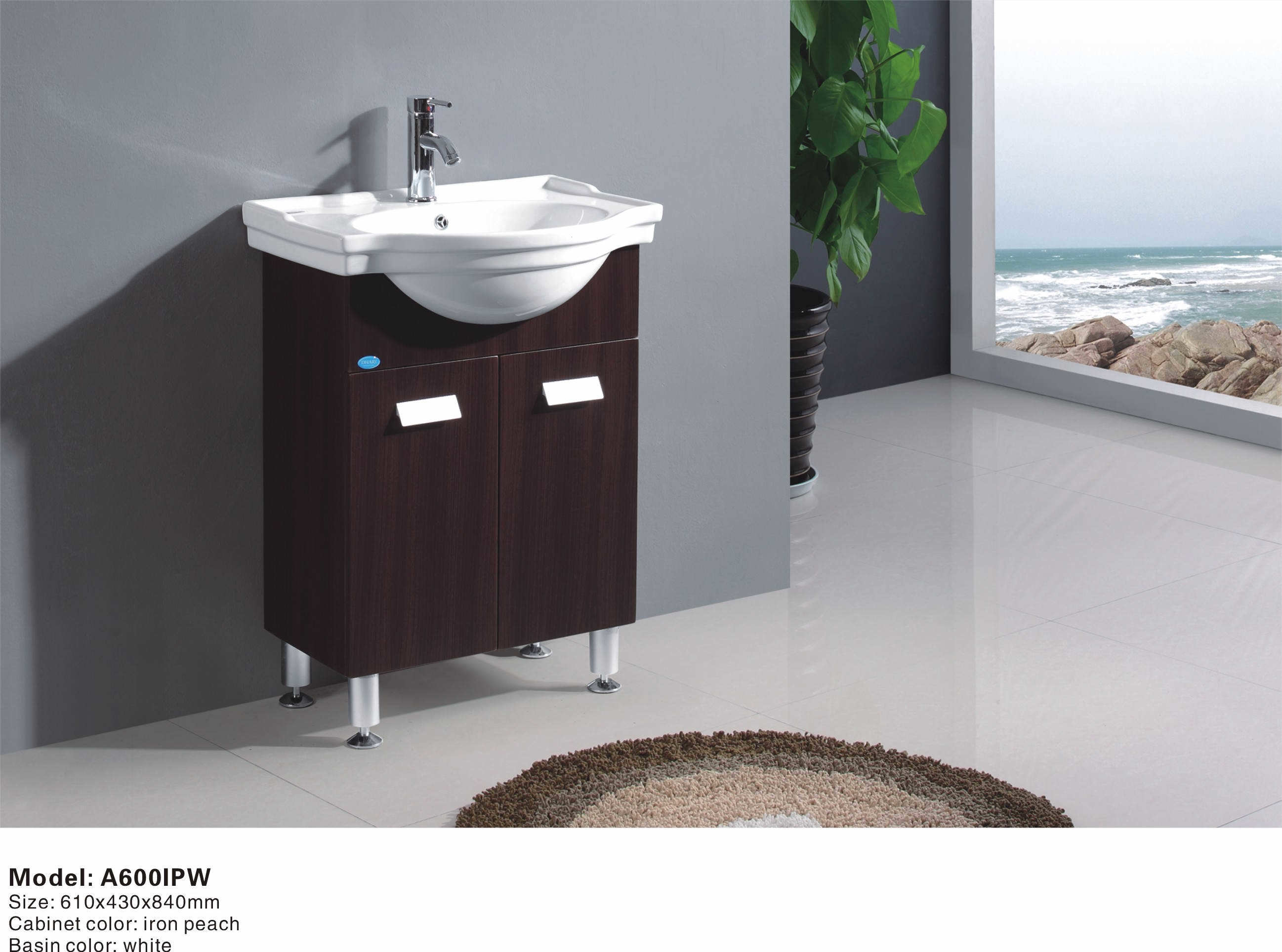 Small floor standing bathroom cabinet a600ipw china for Floor standing bathroom furniture