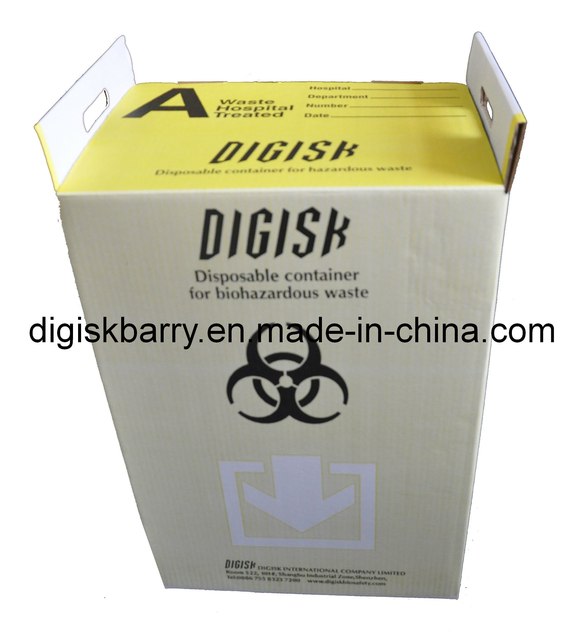 Biomedical Waste Container-Corrugated Box with Liner