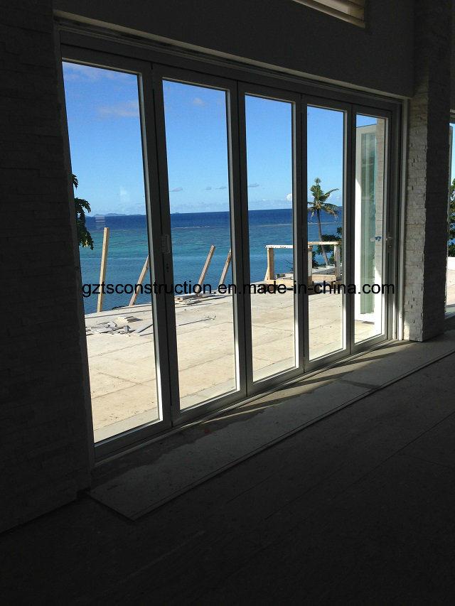 High Quality Double Glazing Aluminum Folding Door as Entrance Door