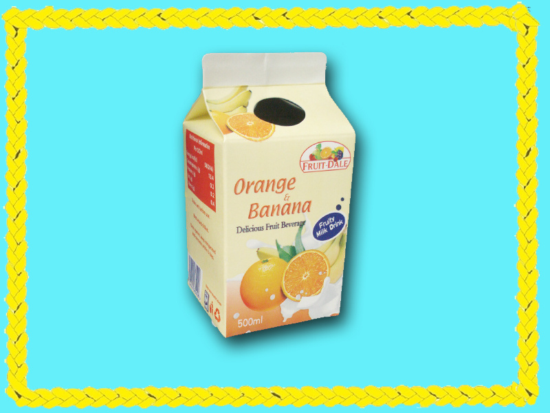 6 Layer 250ml Fuirt Juice Gable Top Carton with Alumium
