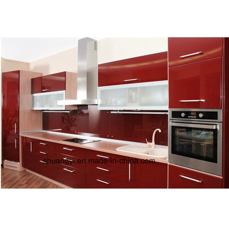 White Lacquer High Gloss Modular China Modern Kitchen Cabinet