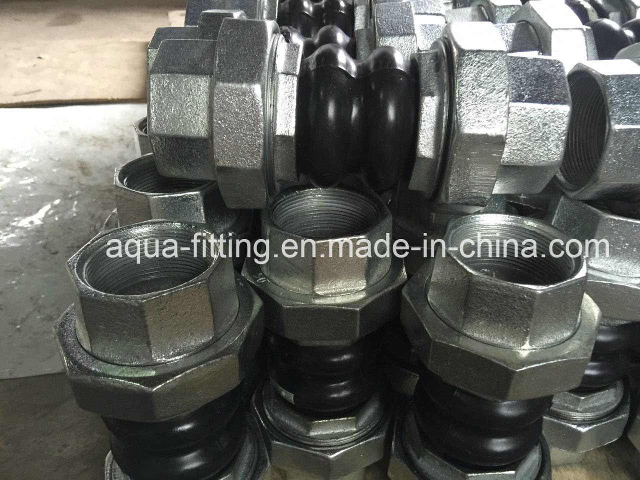 Thread Union Double Sphere Rubber Joint