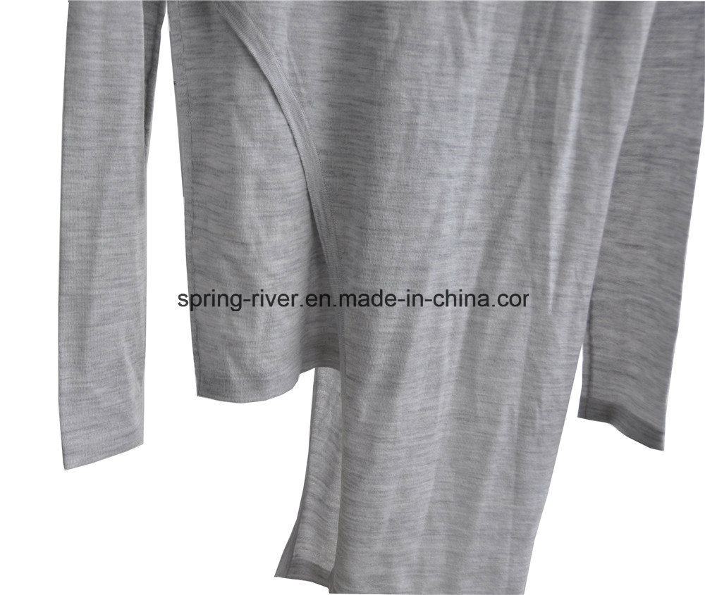 100%Wool Spring False Two-Piece Knitwear Fashion Clothing