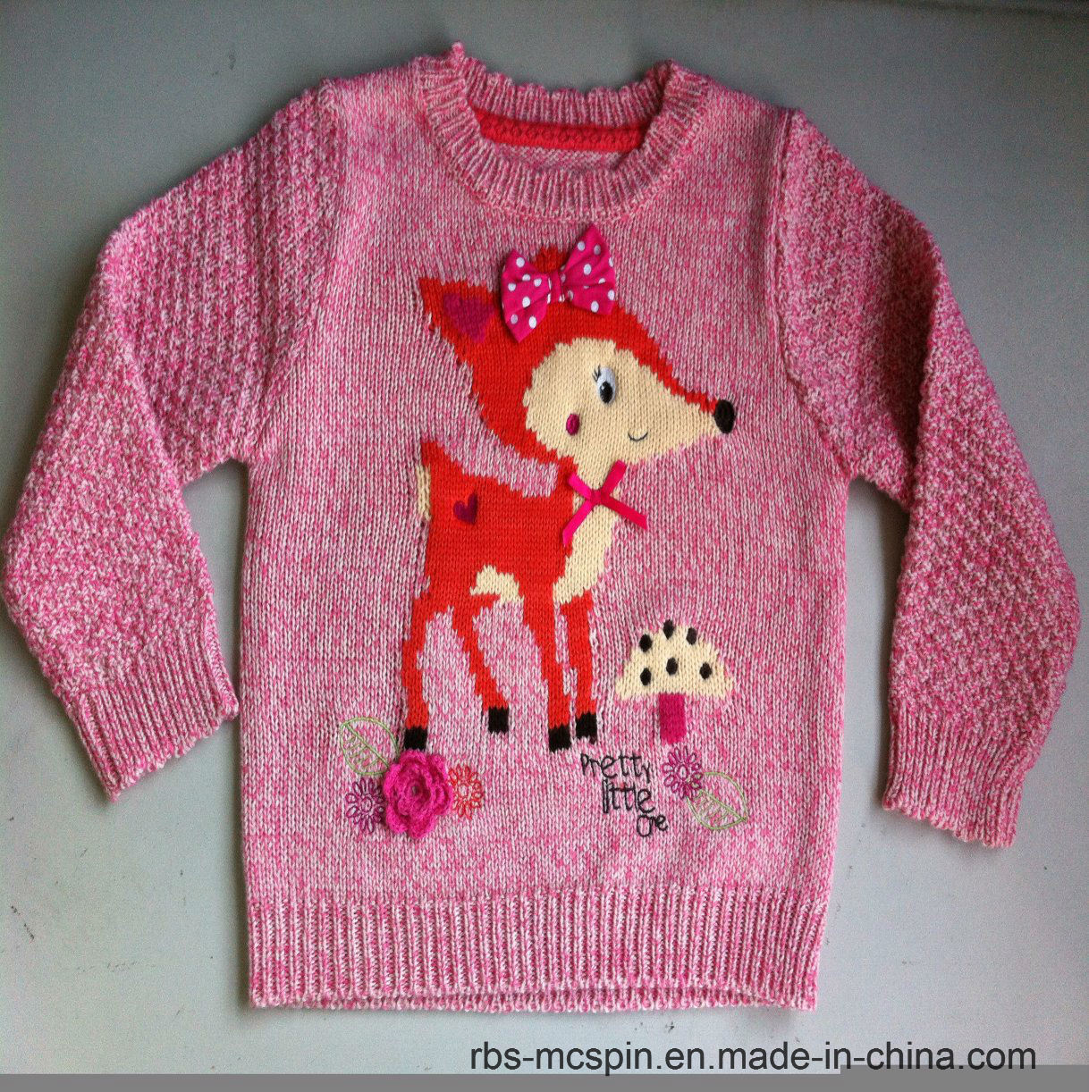 Children Kid Sweater Girls Intarsia True Knitted Sweater