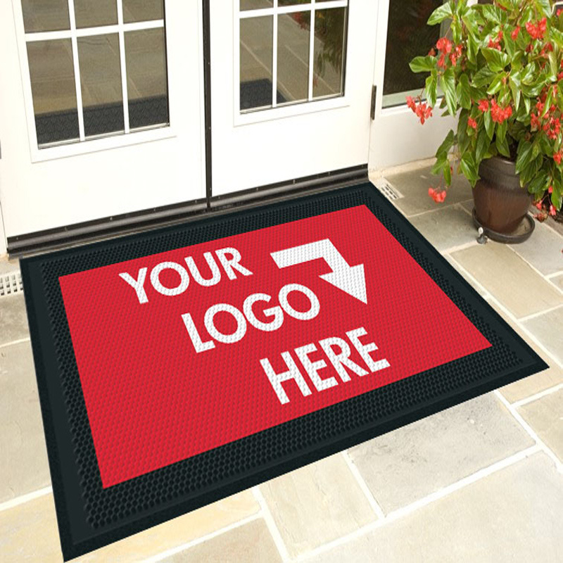 Custom Personalized Dye Sublimation Printed/Printing/Print Welcome Entrance Promotional Logo Rubber Door Floor Mats
