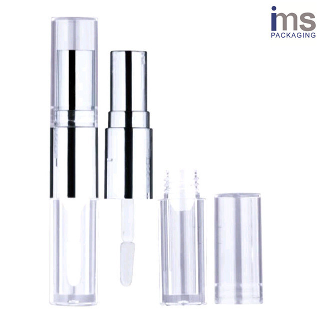 Duo Round Plastic Lip Gloss/Lipstick Case