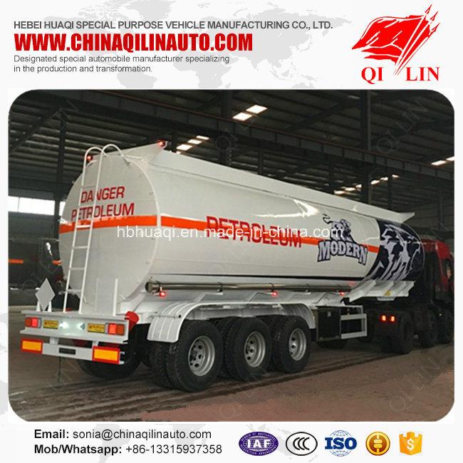 3 Compartments Aluminum Alloy Fuel Tanker Semi Trailer for Africa