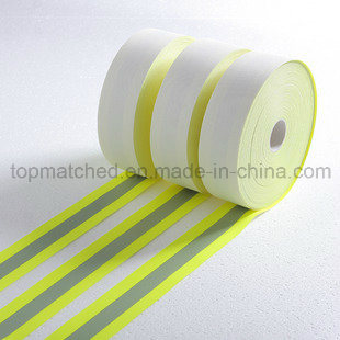 Hi-Vis Fire Flame Retardant Yellow-Silver-Yellow Reflective Tape
