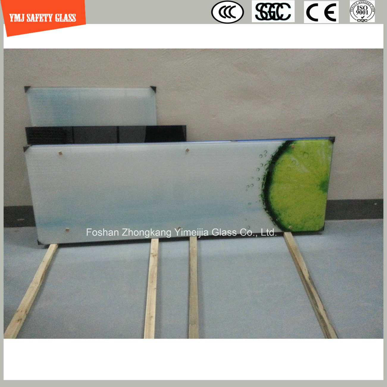 4-19mm Digital Painting Tempered Glass Table Top