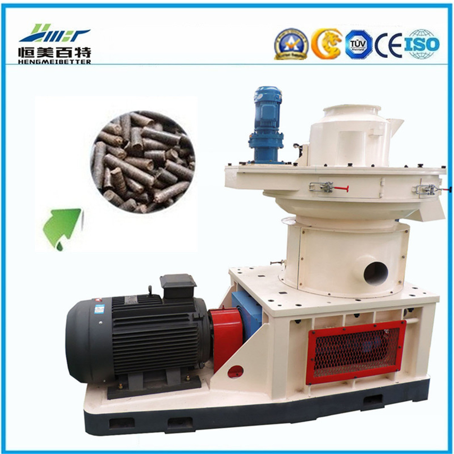 Ring Die Rice Husk Straw Cotton Stalk Agricultrual Waste Biomass Pellet Mill
