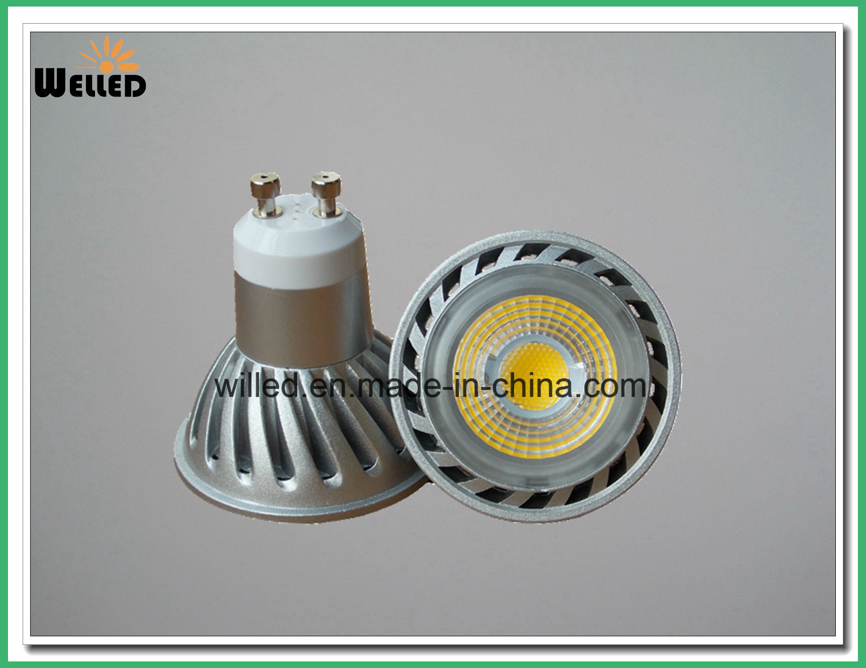 85-265VAC Dimmable GU10 LED Spotlight with LED Light for 25W 50W Halogen Replacement