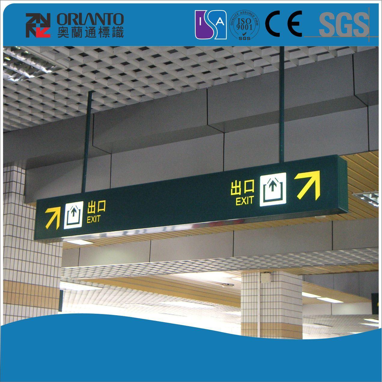 Exit Guide Panel Slim Light Box