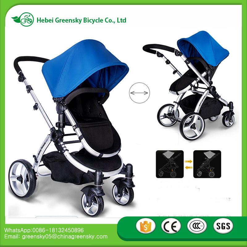2016 New Fashion High Landscope Baby Stroller + Car Seat