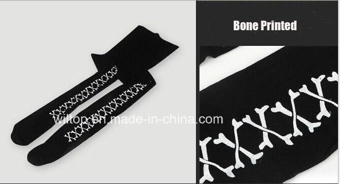 Halloween Bone&Pumpkin Design Black Pantyhose (WA003)