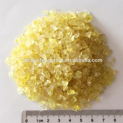 2-3mm Top Quality Yellow Glass Sands