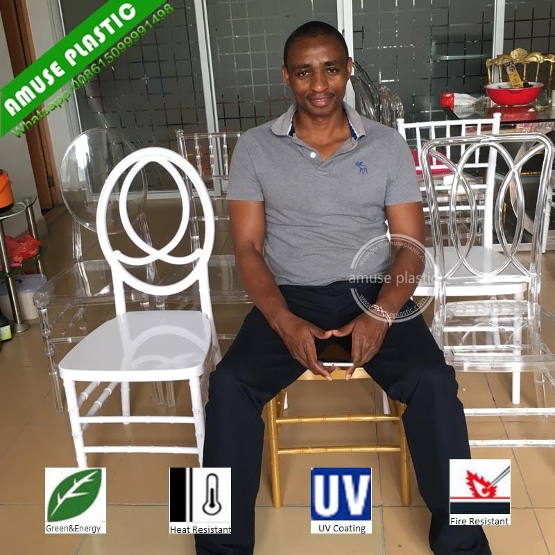 Plastic Clear Acrylic Crystal Wedding Chair