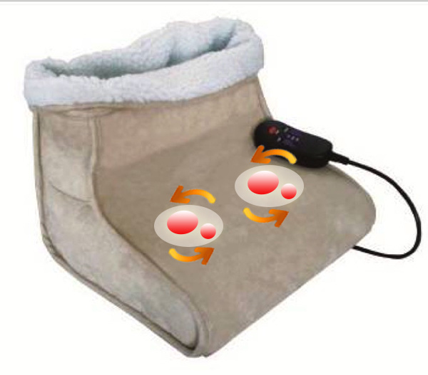 Electric Shiatsu Foot Warmer Massager with Kneading Rollers