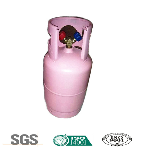 Freon R410A in Double Valve Recyclable Cylinder