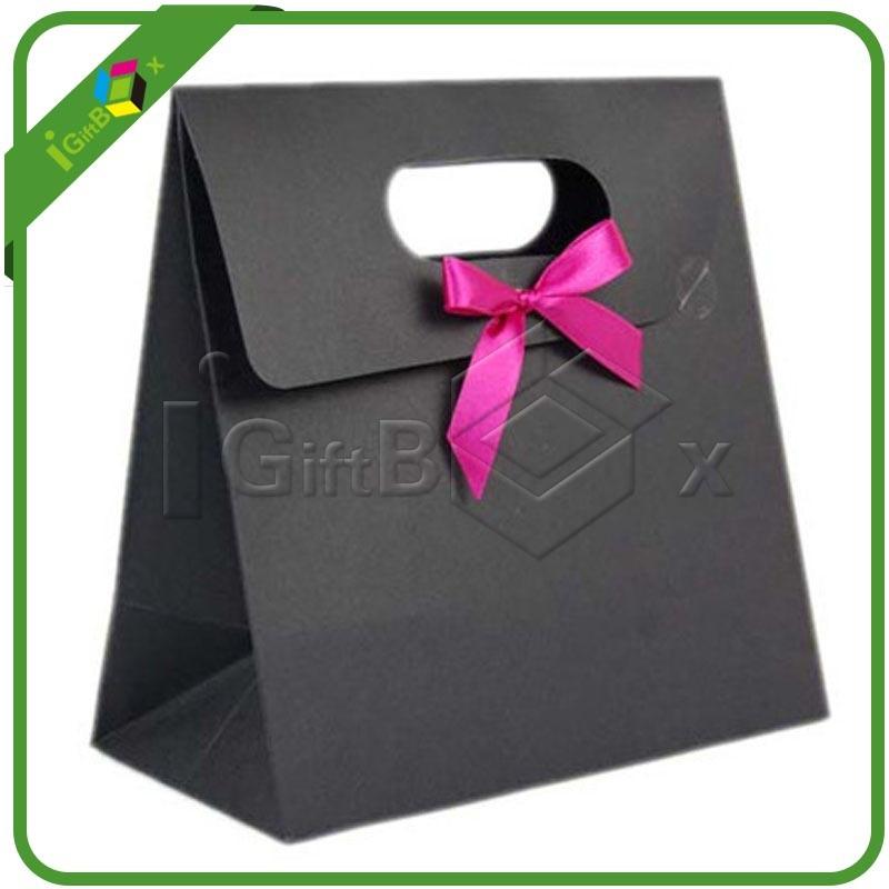 Custom Printed Shopping Paper Bag with Die-Cut Handle