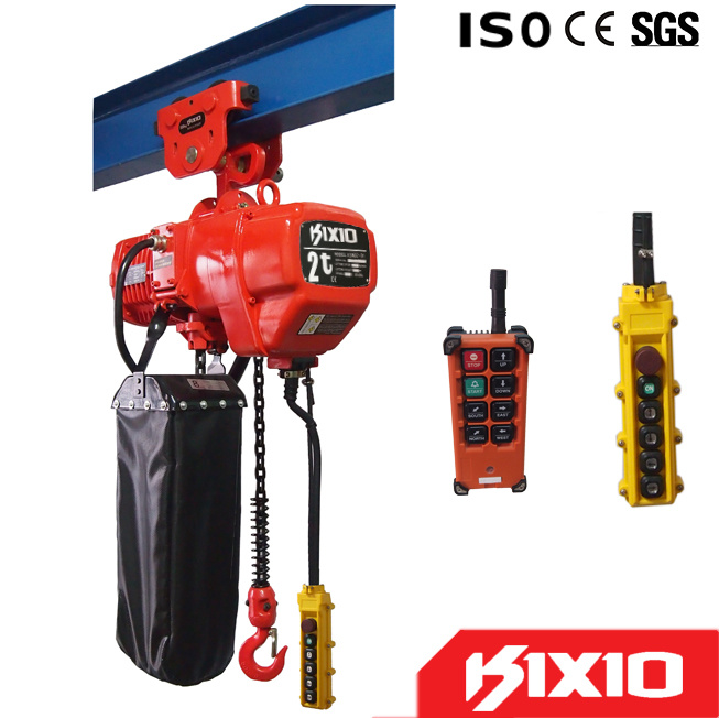 2t Wireless Control Type Electric Chain Hoist