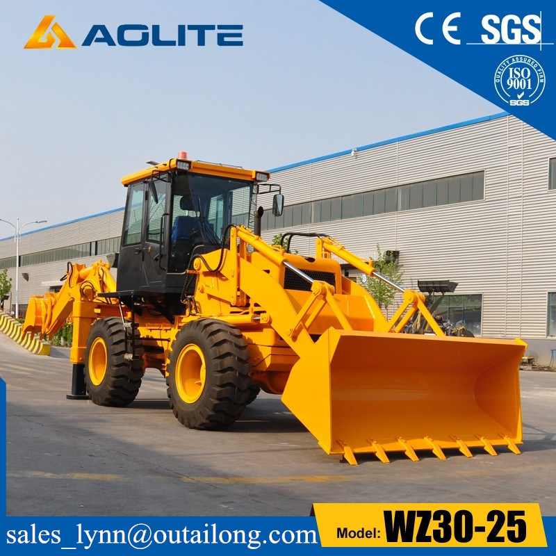 2.5ton Factory Backhoe Loader Tractor Wheel Backhoe Loader Wz30-25