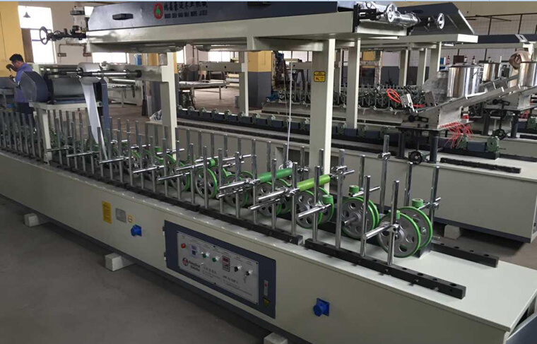 Hotmelt (PUR) Wrapping Veneer Machine for Different Shapes