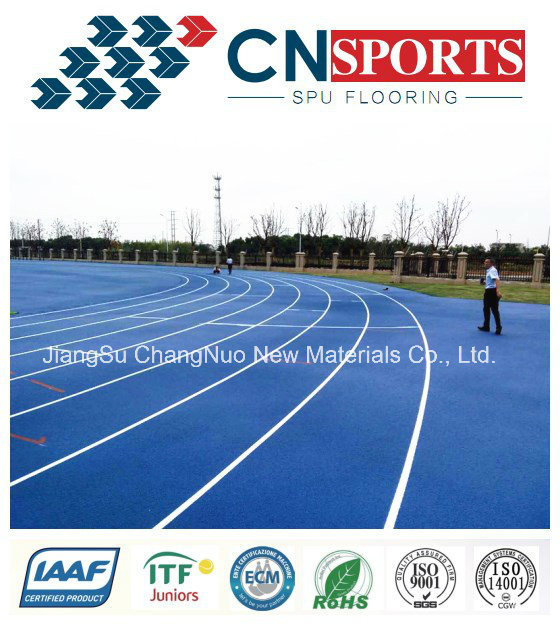 Iaaf Approved PU Rubber Running Track for Sports Flooring
