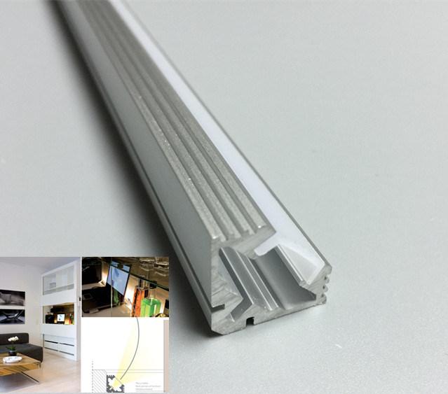 V Shape 19X19 Aluminum LED Profile for Corner Lights