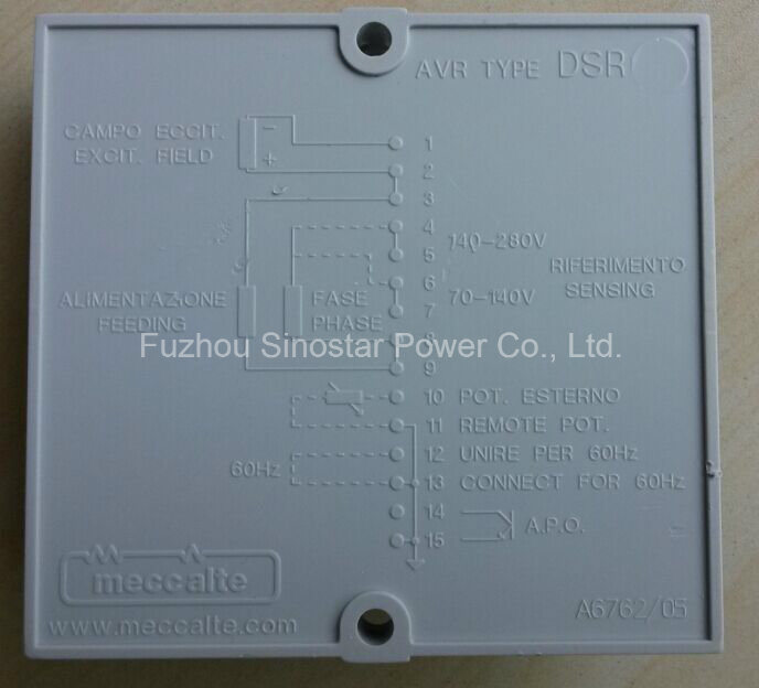 Original Dsr AVR for Meccelte Alternator
