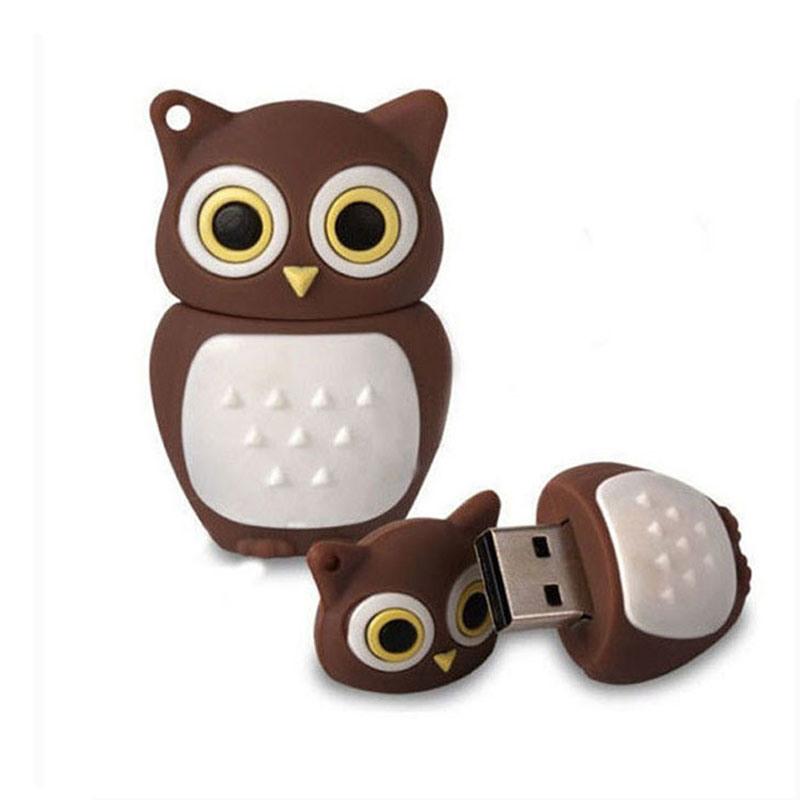 Best Cartoon Owl USB Flash Drive PVC Flash Memory Card 8GB