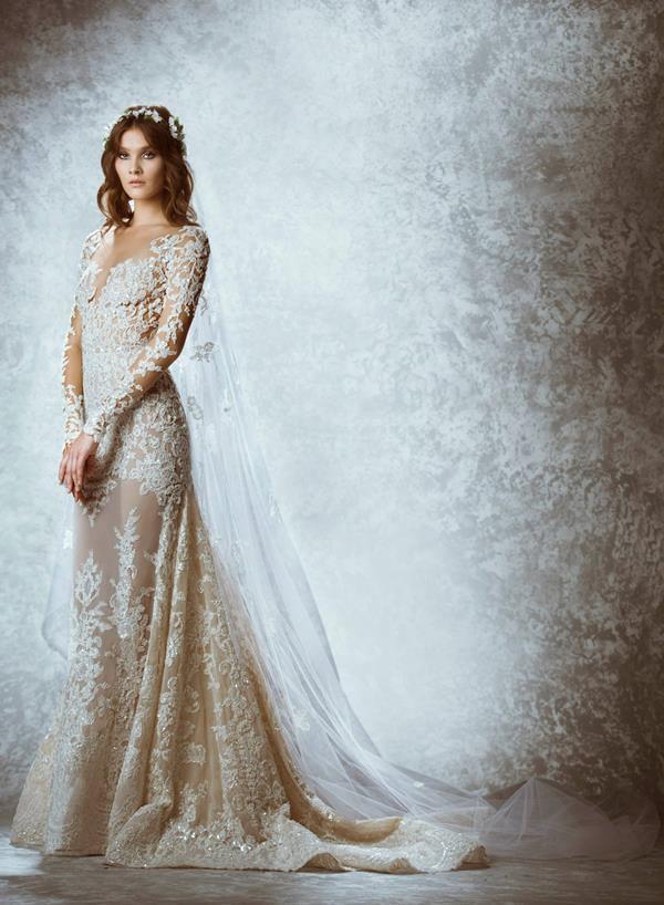 Sweetheart Sleeveless Beading Ball Gown Wedding Gowns (MI 3537)