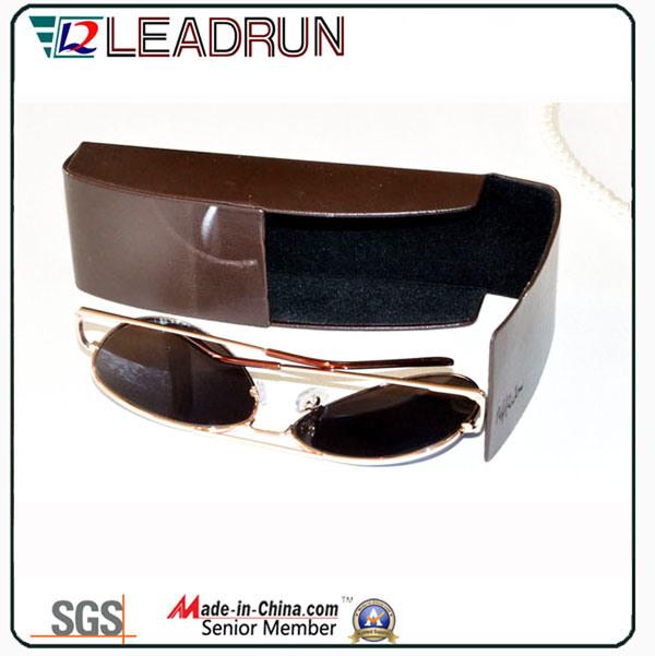 Leather Metal Sunglasses Case Iron Spectacle Case Optical Case Eyeglasses Case (HX291)