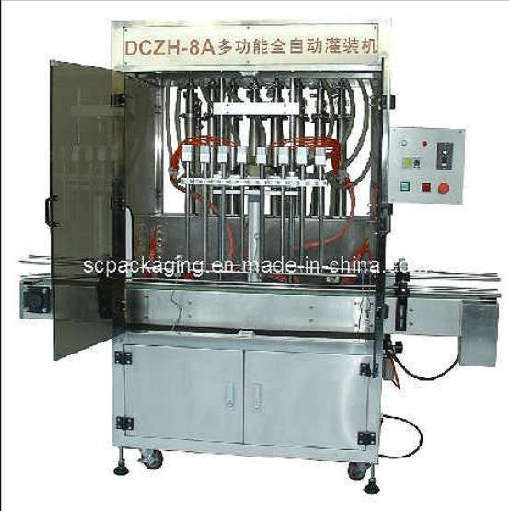 8 head automatic linear piston fluid filling machine