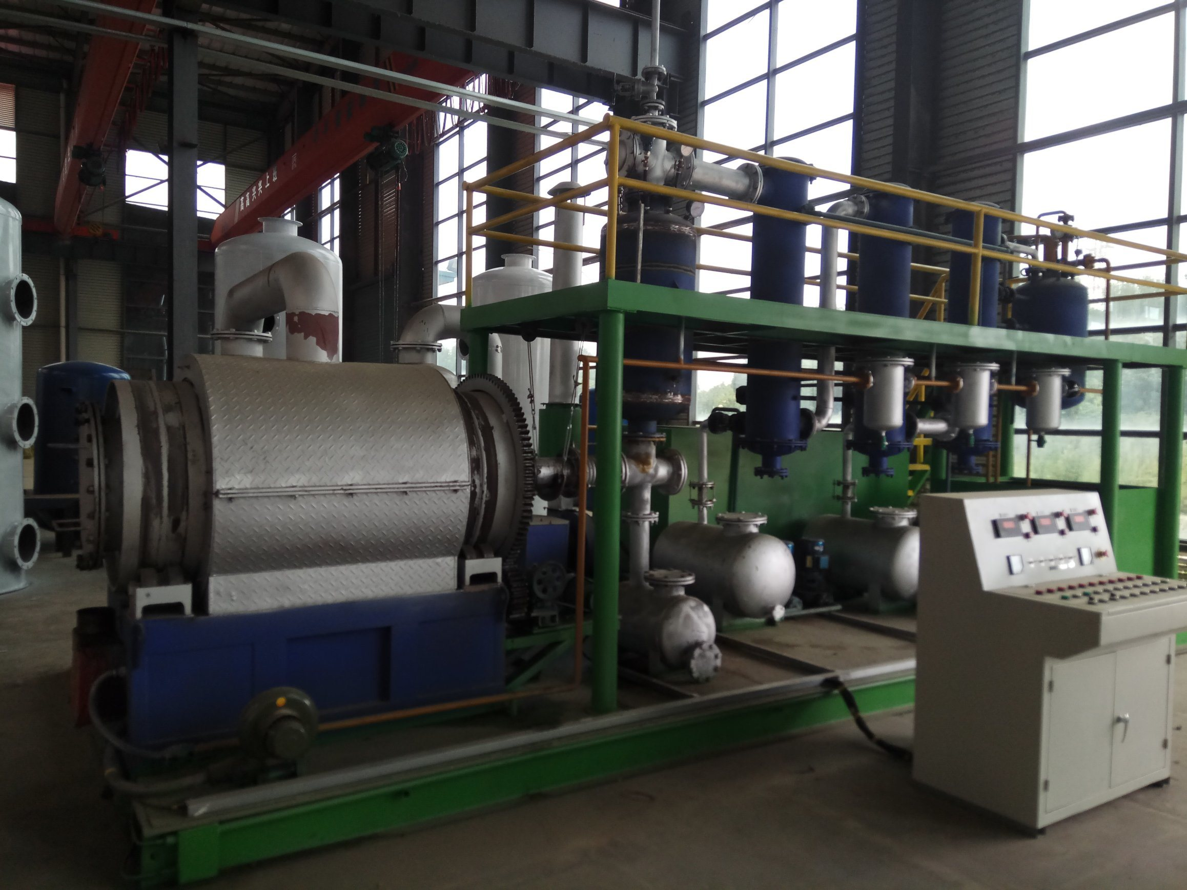 Mobile Movable 2-3ton Tire Recycling Machine Getting Pyrolysis Oil