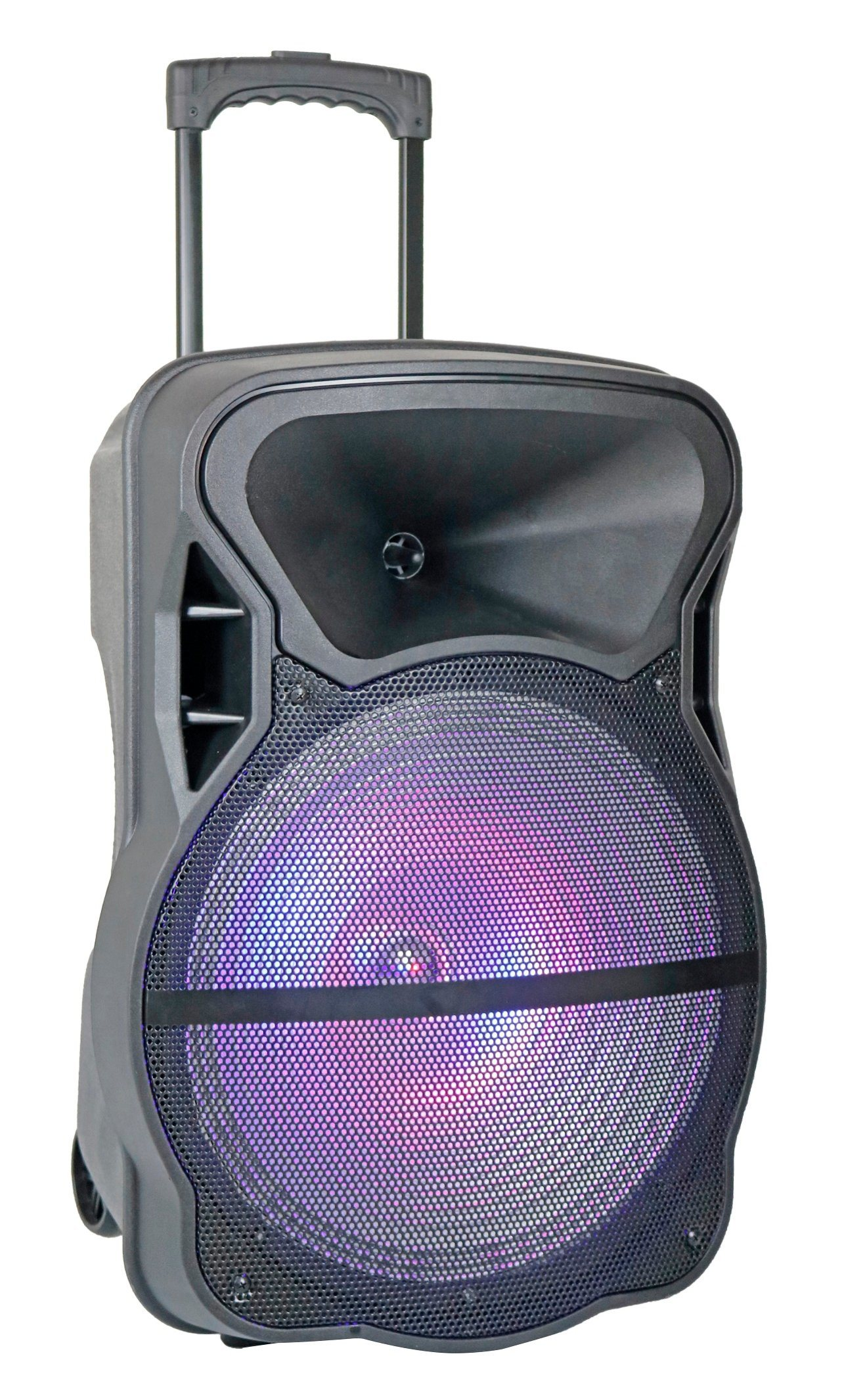 15 Inch Wireless Sound Systems Portable Rechargeable Trolley Speaker Plastic Active Speaker Box Cx-15D