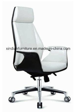 High Back Aluminium Office Swivel Leather Chair