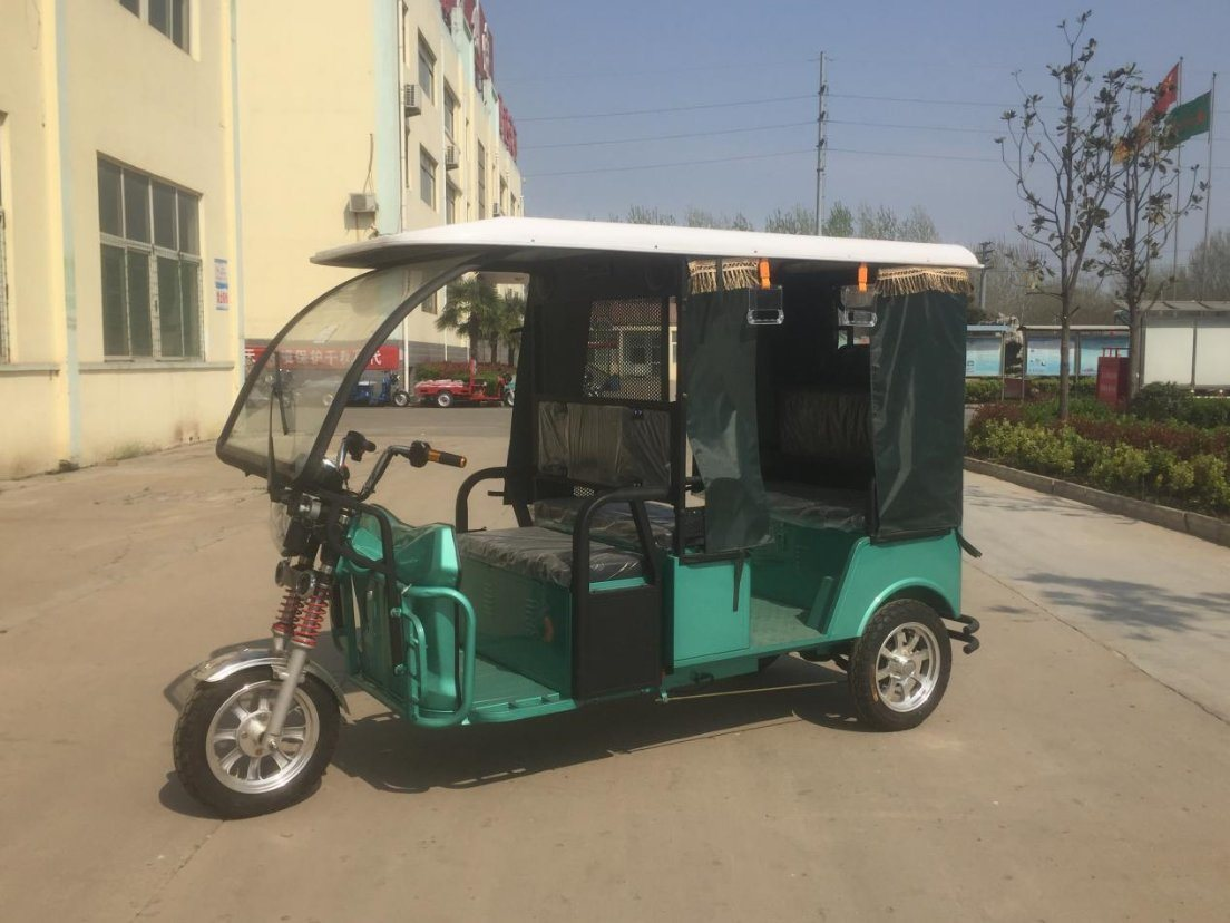 Four Passengers 1000W Three Wheel Electro Tricycle for Sale