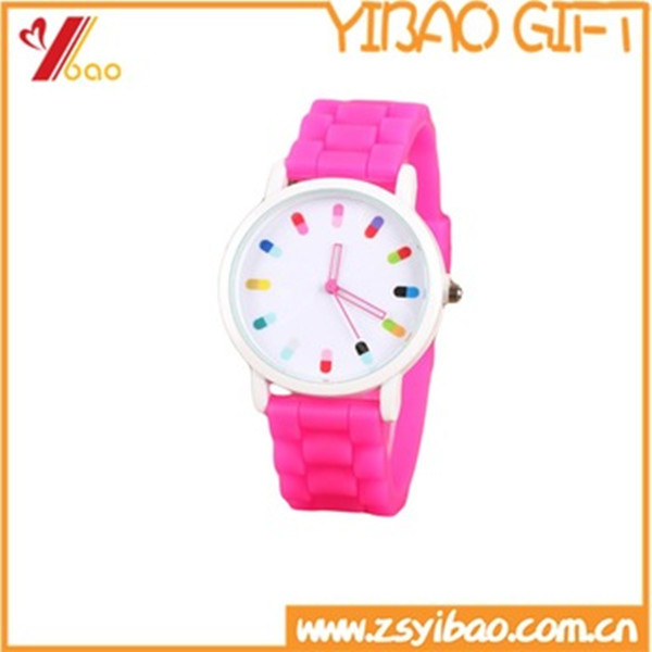 Wholesale High Quality Colorful Silicone Watch (YB-AB-035)