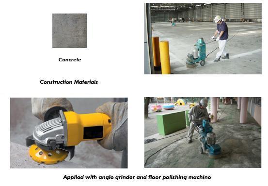Vacuum Brazed Concrete Floor Grinding Cup Wheels Diamond Tools