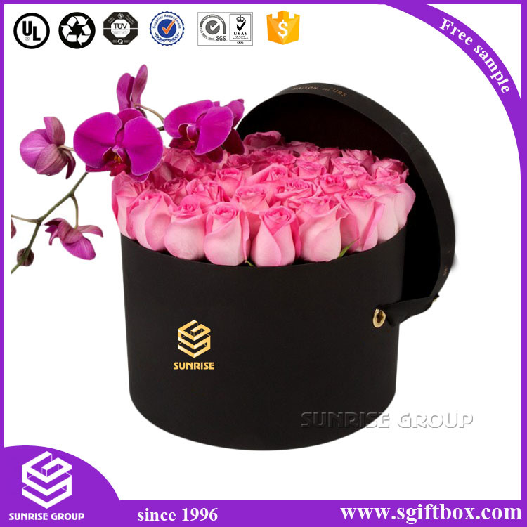 Cmyk Custom Cylinder Packaging Flower Round Paper Box