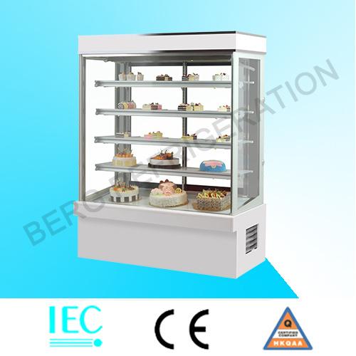 Ce Approved Supermarket Glass Cake Refrigerator