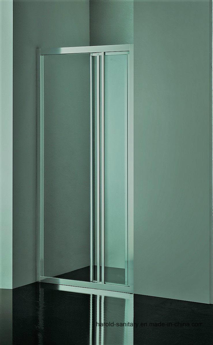 Hr-P037-D Profile Handle Straight 3 Panels Shower Door