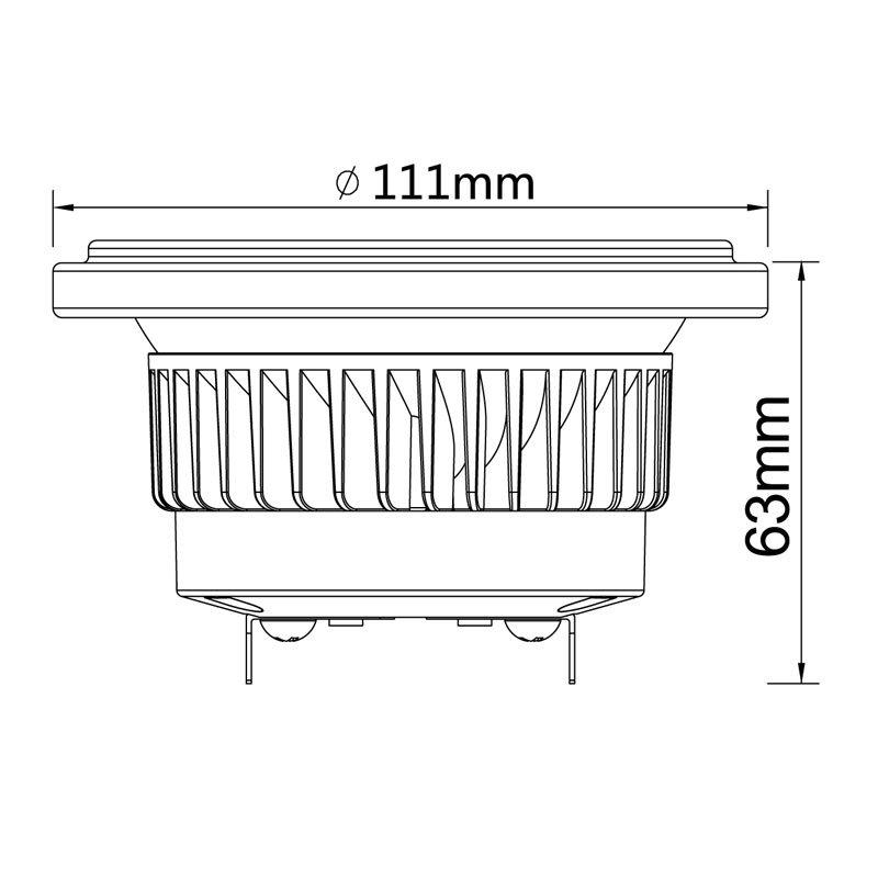 Dimmable Scob Reflector 80/90ra GU10 Es111 (LS-S615-GU10-BWWD)