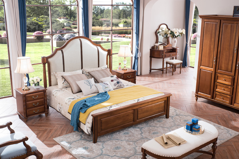 New Wooden Furniture American Country Style Bedroom Furniture (AD812)