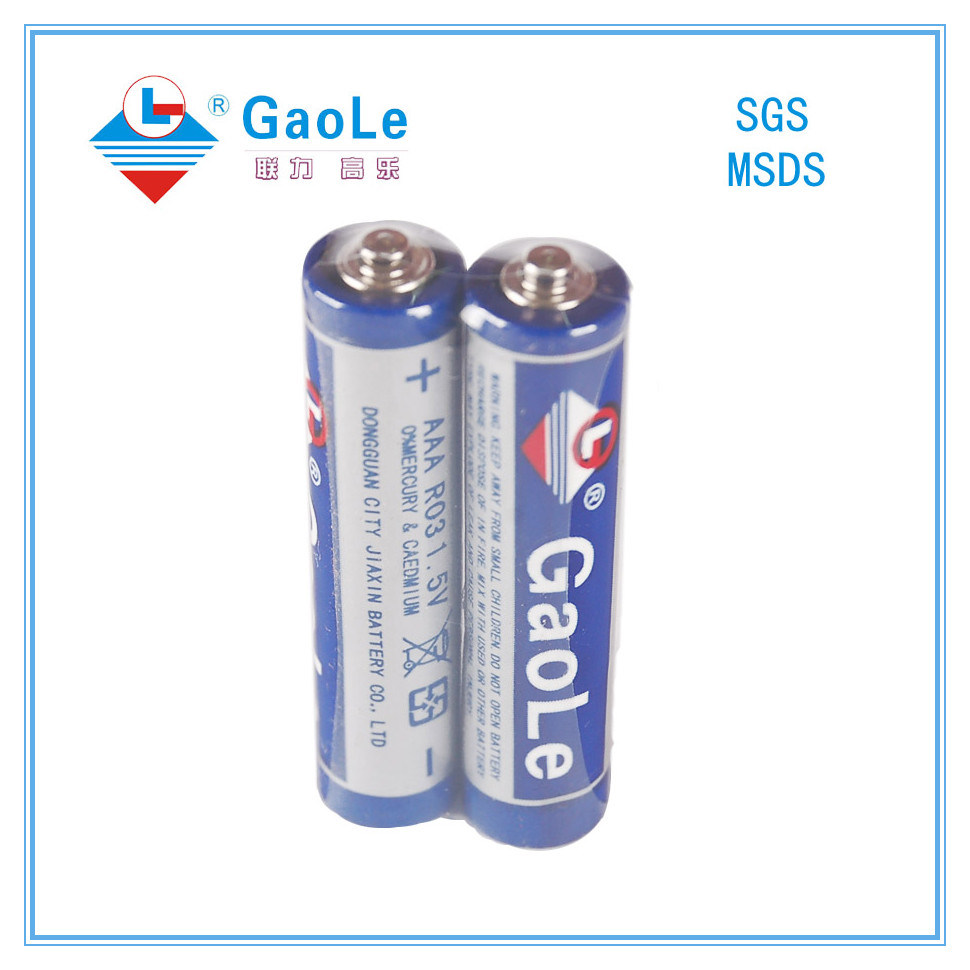 1.5V R03p AAA Size Carbon Zinc Battery (PVC Jacket)