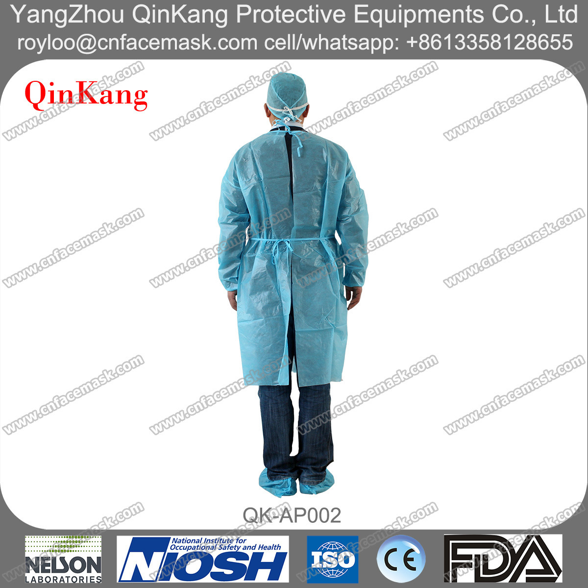 Disposable Non Woven Hospital Surgical Gown/Apron