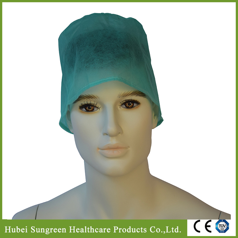 Disposable Non-Woven Doctor Cap with Ties