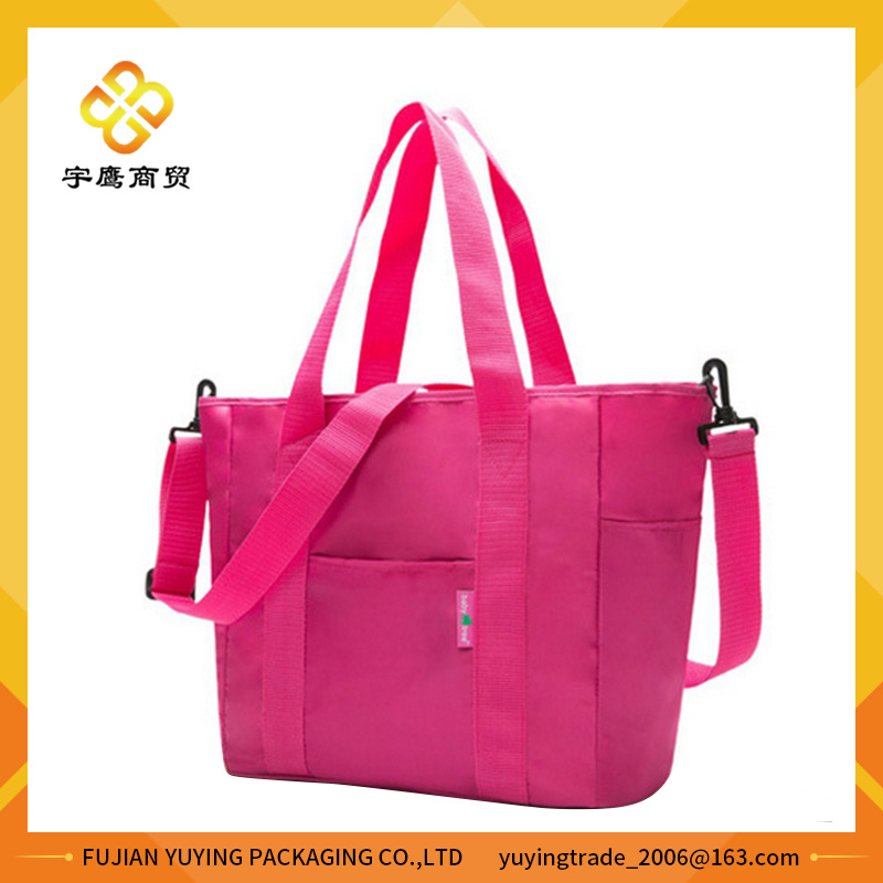 Multifunction Pink Mom Shoulder Bag with Big Capacity Volume