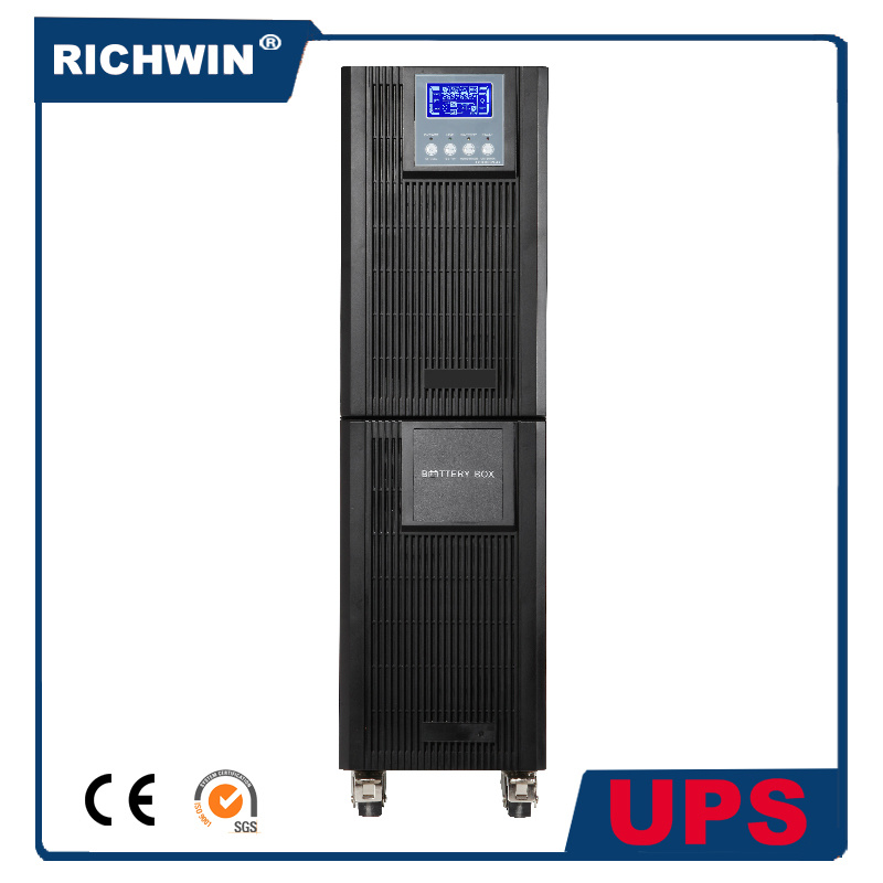 6-10kVA High Frequency Pure Sine Wave Online UPS with Battery