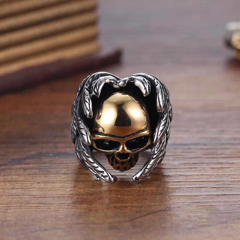 Titanium Stainless Steel Fashion Designer Man Rings Jewelry